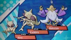 Shiny Abra Evolves into Kadabra and Alakazam Pokemon UltraSun UltraMoon -  YouTube