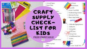 Baby Supplies Checklist Must Have Craft Supplies For Diy Moms Kids Free