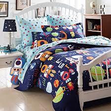 teen duvet cover. Boys Bedding Sets Space Adventure Set 100 Cotton Kids Teen Rockets Hypoallergenic Duvet Cover S