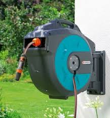 gardena wall mounted hose reel box with