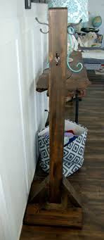 Stand Up Coat Rack Wood Coat Rack 15
