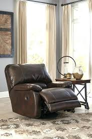 saddle leather recliner sofa