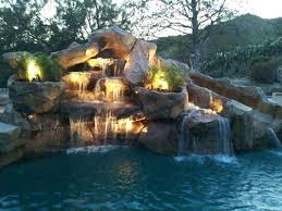In ground pools with waterfalls Rectangle In Ground Pool Slides Clearance With Stone Waterfall For Pools Rock Waterfalls Firsthand In Ground Pool Slides Clearance With Stone Waterfall For Pools Rock