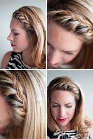 Braided Bangs Hairstyles Pictures Of French Braided Fringe Bangs
