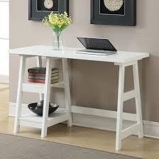Zipcode Design Writing Desk Donavan 2 Shelf Writing Desk Office Desk Trestle Desk