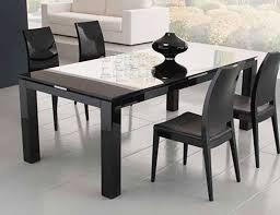 amazing black rectangle modern glass rectangular glass dining table  varnished design