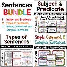 Sentences Task Cards And Anchor Charts Bundle