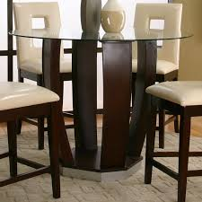 Contemporary Pub Table Set Round Tempered Glass Pub Table By Cramco Inc Wolf And Gardiner