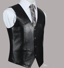 2019 new mens slim fit genuine leather vest casual business suit sheepskin leather waistcoat tops high quality drop from jackhuang 44 7 dhgate
