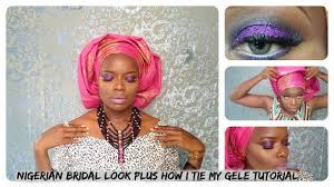 glitzy nigerian bridal makeup tutorial plus how i tie my gele you