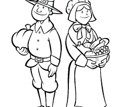 And Pilgrim Coloring Pages At Free Thanksgiving Pilgrims Coloring Sheets