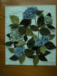 12 best quilted hydrangea images on Pinterest | Hydrangea ... & Textured hydrangea quilt made with texture magic Adamdwight.com