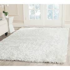 safavieh handtufted silken off white shag area rugs  sg
