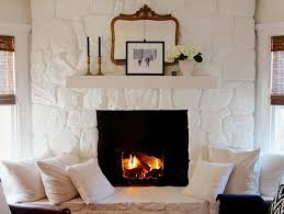 A Connecticut Home With a Black-and-White Spin | Design*Sponge. White Stone  FireplacesPainted ...