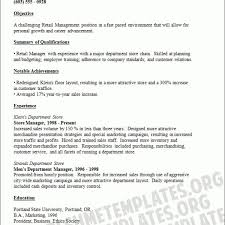 Department Store Manager Resumes Resume Examples For Retail Store Manager Retail Manager Resume