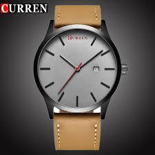 <b>CURREN Top</b> Brand Luxury Quartz <b>watch men's</b> Casual Leather ...