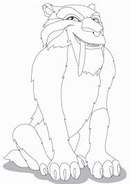 Ice Age Diego Coloring Pages Horse Coloring Pictures Horse