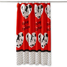 Mickey Mouse Bedroom Curtains Disney Mickey Minnie Mouse Fabric Shower Curtain Home Bed