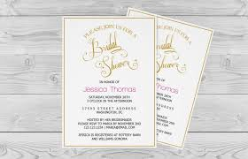 Bridal Shower Invitation Template Golden Calligraphy Wedding