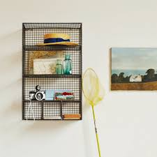 ... Wall Mount Wire Shelving Target Chapter 9 Bohemian Bathroom Vintage Wire  Baskets As Shelves In Bathroom ...
