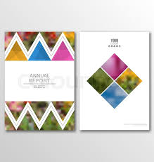Book Design Templates Illustration Leaflet Brochure Flyer Stock Vector Colourbox