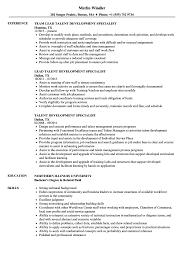 Development Resumes Talent Development Specialist Resume Samples Velvet Jobs
