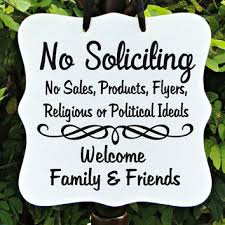 Decorative No Soliciting Signs