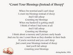 gypsy daughter essays it s time to count my blessings instead of the lyrics of the song from the 1954 film white christmas