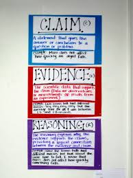 Claims Evidence Reasoning Anchor Chart Science Writing