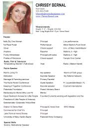 Modeling Resume Template Beginners Free Resume Example And