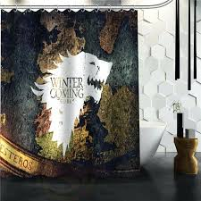 printing shower curtains custom the game of thrones printed bathroom waterproof polyester with shower curtains decor