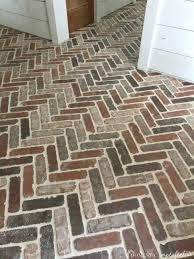Domestic Imperfection Brick Paver Floor