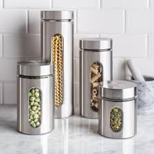 ksp ellipse cylinder canisters set of 4 stainless steel