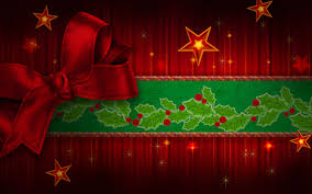 Christmas Red Ribbon Backgrounds For Powerpoint Abstract And
