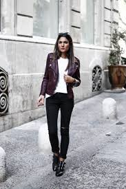 we are loving federica l s simple leather jacket style consisting of a