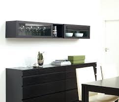 horizontal wall cabinet glass door wood