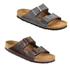 birkenstock arizona iron amalfi testa di moro leather sfb sandals slides shoes