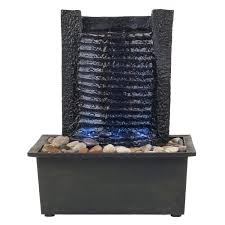 Lighted Water Fountain Outdoor Decor