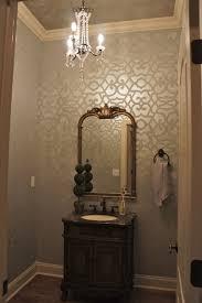 moroccan stenciled bath by bella tucker decorative finishes