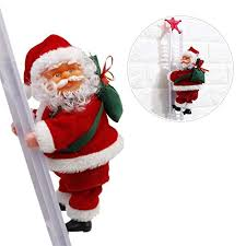 Sundlight Electric Santa Claus Climbing Ladder Doll ... - Amazon.com
