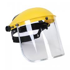 Yellow Plastic Safety Face Shield Pharma Industry Rs 280 Piece