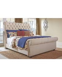 upholstered sleigh beds. Contemporary Sleigh Windville King Upholstered Sleigh Bed By Ashley HomeStore Linen With Beds