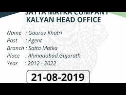 Matka Pana Chart Videos Matching Free 20 06 2019 Matka Kalyan Chart Satta
