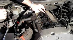 How to change spark plugs in a Mercedes SLK 230 (R170) - YouTube