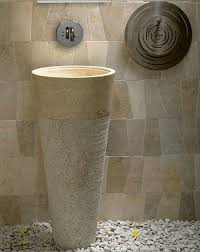marble pedestal sink. Delighful Sink Free Standing Pedestal Sink Cream Marble Bathroom 90 Cm X 40 Cono Model In P