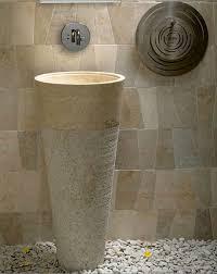 Marble pedestal sink Antique Free Standing Pedestal Sink Cream Marble Bathroom 90 Cm 40 Cm Cono Model Marble Mosaics Free Standing Pedestal Sink Cream Marble Bathroom 90 Cm 40 Cm Cono