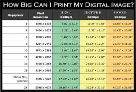 14 Best Photos Of Print Sizes Chart Megapixel Print Size