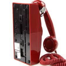 replica bnib crosley classic wall phone in red vintage collectibles on carou