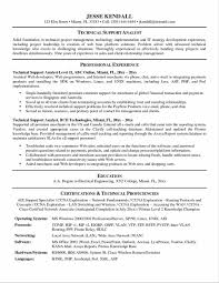 Technical Support Engineer Resume Sample New Sample Resume For