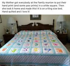 Family Handprint Quilts | Crafts & Projects | Pinterest | Family ... & Family Handprint Quilts Adamdwight.com